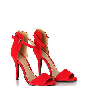 """<p>Chic and classic, these sexy scarlet heels add instant sex appeal to the simplest of outfits, and they're super affordbale, too.</p><p>Red suede heels, £24.99, <a href=""""http://www.missguided.co.uk/catalog/product/view/id/86027/s/kamary-suede-high-heeled-sandals/category/641/"""" target=""""_blank"""">Missguided.co.uk</a></p>"""