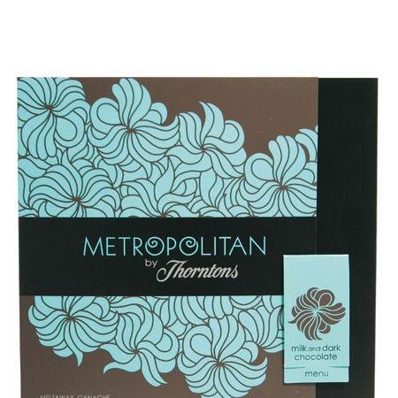 """Prepare yourselves for the chocolate box with a stylish kick, the Metropolitan. Culinary couture meets cocoa chic in this collection from <a target=""""_blank"""" href=""""http://www.thorntons.co.uk/ThorntonsSite/product/all_christmas_gifts/7734.htm"""">Thorntons.</a> It contains carefully crafted chocolates inspired from chic cities from around the world, and each piece has a personality. The Cosmo fave is the salted caramel encased in dark chocolate, although with flavours including orange blossom, quince and cloudberry it's hard to choose. £5.99 for a box of 19.  <br />"""