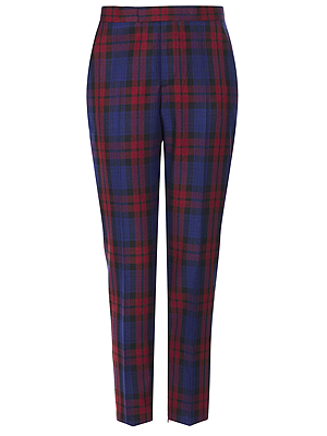 """<p>Now these are what I call trophy trousers! In the must-have print for winter 2013 - tartan - these checked beauts will bring your look bang up to date (and are ideal for sitting Frow).</p><p>Tailored tartan trousers, £50, <a href=""""http://www.topshop.com/en/tsuk/product/clothing-427/trousers-447/modern-tailoring-redblue-check-suit-trouser-2245629?bi=1&ps=20"""" target=""""_blank"""">topshop.com</a></p>"""
