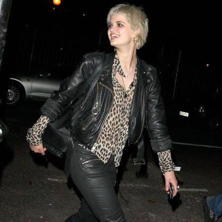 She was joined by a leather-clad Pixie Geldof, who looked excited at the prospect of belting out some Take That hits...