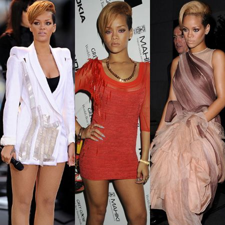 The stunning singer has shunned the gorgeous girlie look in favour of fierce, rock star chic. She's brave and beautiful enough to pull off unique looks, and with the release of her latest album R Rated, Rihanna is a fashion victor and never a victim. Click through as we chart her current enviable and edgy style  <br />