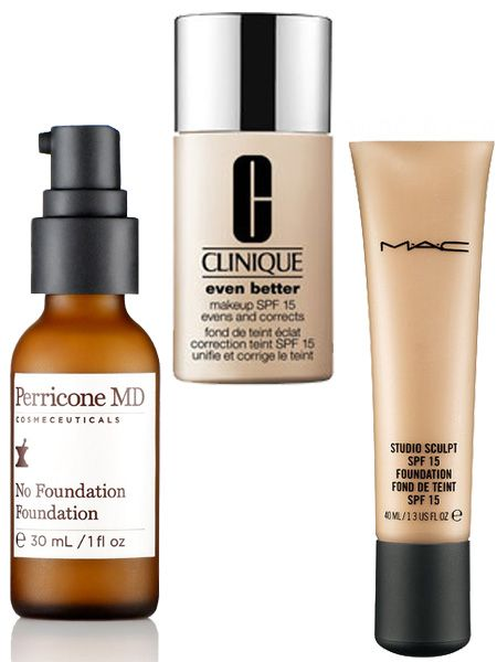 "<p><strong>Inge:</strong> ""Don't like it, don't use it. But I do rate Perricone MD No Foundation Foundation as it's seriously undetectable.""</p>  <p><strong>Kate:</strong> ""MAC Studio Sculpt Foundation. It has a gorgeous gel-based texture which means it glides over skin and blends beautifully. It's a make-up artists' fave.""</p>  <p><strong>Philippa:</strong> ""Clinique Even Better. Gives a lovely glow and stays on all day. I like to have good coverage and this is perfect.""</p>"
