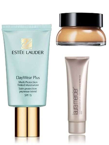 "<p><strong>Inge:</strong> ""Estée Lauder Daywear Plus Tinted Moisturiser gives the loveliest glow.""</p>  <p><strong>Kate:</strong> ""Laura Mercier Tinted Moisturiser is a cult favourite and great for summer.""</p>  <p><strong>Philippa:</strong> ""Bobbi Brown Tinted Balm - again, gives a gorgeous glow over a tan but not as much coverage so I use this in the summer.""</p>"