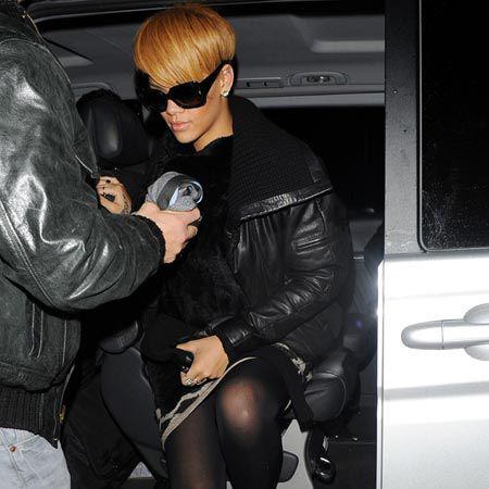 Rihanna is back in the UK following a performance last week on 'Cheryl Cole's Night In', and making the most of her time in London by partying at only the most exclusive of places, starting the night off at Whisky Mist. <br />
