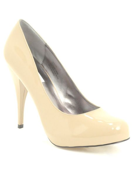 "Flesh hued heels will give the illusion of bare legs going on forever. These beige court shoes fit the bill. <br /><br />£69 reduced from £115, Steve Madden at <a target=""_blank"" href=""http://www.asos.com/countryid/1/Steve-Madden/Steve-Madden-Trinite-Concealed-Platform-Heeled-Court-Shoes/Prod/pgeproduct.aspx?iid=723789&MID=35718&affid=2134&siteID=0RpXOIXA500-Gm7q_wPUgYtFHu5dx82k6g"">www.asos.com</a><br />"