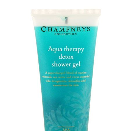 """<p>Start the day as you mean to go on with an invigorating shower gel. This one from Champneys is supercharged with a blend of marine minerals, sea water and essential oils which stimulate skin, detoxifying in its wake</p><p>Champneys Aqua Therapy Detox Shower Gel, now £3 at <a target=""""_blank"""" href=""""http://www.champneys.com/Collection/Bath_and_Body/Aqua_Therapy/Aqua_Therapy_Detox_Shower_Gel"""">www.champneys.com</a></p>"""