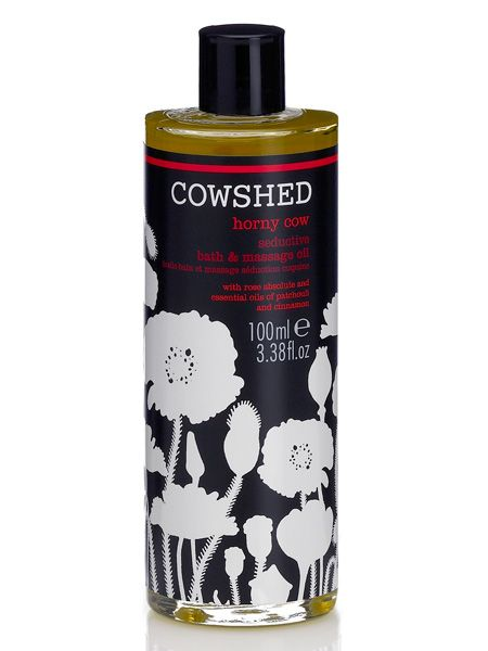 "<p>The best pressies are the ones you can share. Make yourself, and your man, melt with Cowshed's aptly named, Horny Cow bath and massage oil. Rose absolute, patchouli and cinnamon oil have been blended together to create a flirty fragrance you can both enjoy</p>  <p>£18, <a target=""_blank"" href=""http://www.cowshedonline.com/horny_cow/c84638-1.html?77tadunit=363087ba&77tadvert=2177356616&77tkeyword=horny%20cow%20oil&77tentrytype=s&gclid=COznm9Pfo58CFZaGzAodeVnh7w"">cowshedonline.com</a></p>"