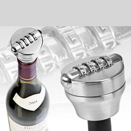 <p>Has he been at your wine? Have you been at his whisky? Buy him this handy padlock-style bottle lock, which uses a four digit code, and never again will suspicion and rage seethe alongside your hangovers.</p>
