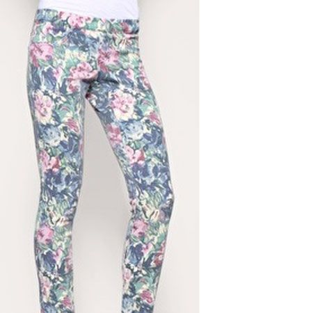 """Florals are massive for this spring/summer season. Wear yours with a twist in the form of these amazing floral jeggings! <br /><br />£28, <a href=""""http://www.asos.com/Asos/Asos-Kate-Floral-Denim-Legging/Prod/pgeproduct.aspx?iid=881750&cid=7657&sh=0&pge=1&pgesize=20&sort=-1&clr=Print"""">www.asos.com</a><br />"""
