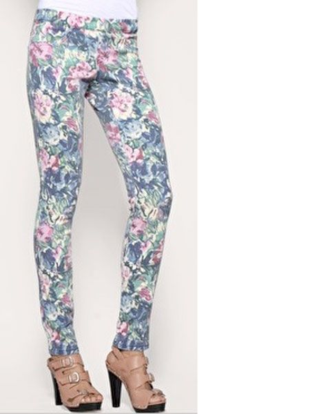 "Florals are massive for this spring/summer season. Wear yours with a twist in the form of these amazing floral jeggings! <br /><br />£28, <a href=""http://www.asos.com/Asos/Asos-Kate-Floral-Denim-Legging/Prod/pgeproduct.aspx?iid=881750&cid=7657&sh=0&pge=1&pgesize=20&sort=-1&clr=Print"">www.asos.com</a><br />"
