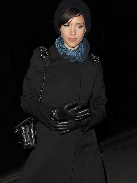 "<a href=""tags/jessica-alba"">Jessica Alba</a> was wrapped up against the February freeze as she arrived at The Wolseley for dinner with friends. The actress is currently over in the UK for the European premiere of rom-com, 'Valentine's Day', co-starring <a href=""tags/jessica-biel"">Jessica Biel</a>, <a href=""tags/julia-roberts"">Julia Roberts</a>, Eric Dane, <a href=""tags/ashton-kutcher"">Ashton Kutcher</a> and <a href=""tags/anne-hathaway"">Anne Hathaway</a>.<br /><br />"