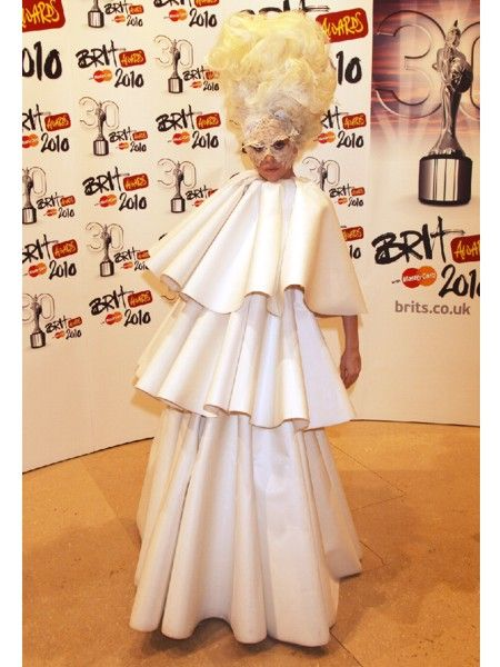 It could only be Lady Gaga - but is that one of Babs Windsor's wigs she's wearing? The style sensation was the big winner of the night scooping three awards.