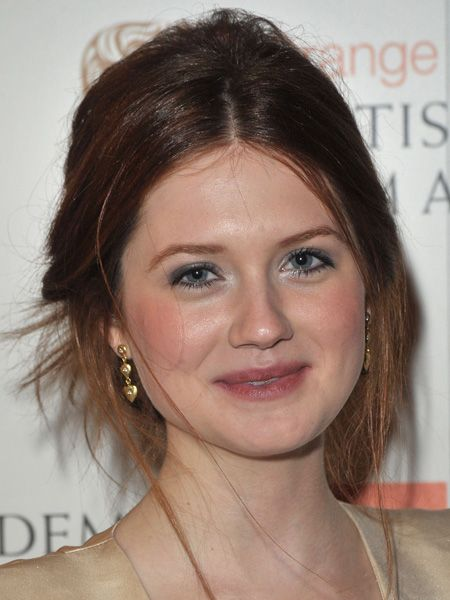 <p>Ginny Weasley from the Harry Potter films never looked so hot. Her soft hair and makeup complements her pale dress. A simple touch of silver on the inner eyes gives her a touch of BAFTA magic.</p>  <p>Verdict: Hit <br /></p>