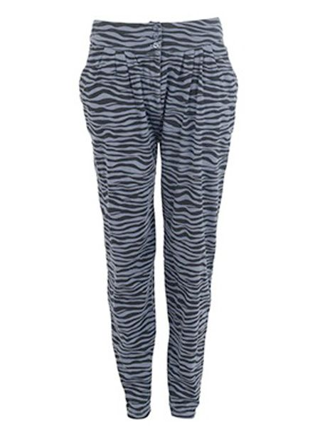 "Make a statement in these zebra harem pants.. go on- be brave!! <br /><br />£19.99, <a target=""_blank"" href=""http://xml.riverisland.com/flash/content.php"">www.riverisland.com</a><br />"