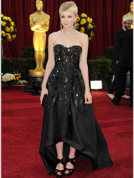 She may have missed out on Best Actress but the star's winning Prada dress, with a fun embellished body and high front hem, was perfect for her