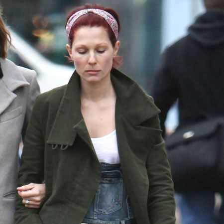 Mark Owen's wife Emma Ferguson was spotted without her wedding ring after his confession this week of sleeping with up to 10 women before they got married last November