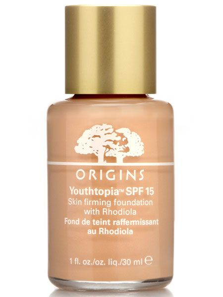 """<p>With its natural selection of wonder ingredients this liquid foundation plumps, lifts and firms your skin every time you wear it as well as making it appear younger over time. Proof you can halt nature naturally!</p>  <p>Origins Youthtopia Skin Firming Foundation, £24, <a target=""""_blank"""" href=""""http://www.origins.co.uk/templates/products/sp_shaded.tmpl?CATEGORY_ID=CAT3621&PRODUCT_ID=PROD98493"""">www.origins.co.uk</a></p>"""