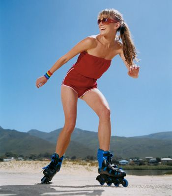 """<p>Inline skating isn't just for LA fitness freaks and baggy-trousered teens, it's a low-impact workout that tones your lower half and strengthens your abs. If you can keep your speed for 30minutes (trying not to fall over), you'll burn 350 calories. And you don't have to do it solo, armed with a boombox, free skate groups take over the UK streets en masse and ride around together honing their skating skills. If you're a beginner book lessons first before joining a street skate session held in <a target=""""_blank"""" href=""""http://www.citiskate.co.uk/"""">London</a>, <a target=""""_blank"""" href=""""http://www.skateaway.org.uk"""">Cardiff</a>, <a target=""""_blank"""" href=""""http://www.sk8school.co.uk/skatelessons.html"""">Glasgow and Edinburgh</a> and <a target=""""_blank"""" href=""""http://www.tryskating.com/Eastborne"""">Eastbourne </a></p>"""