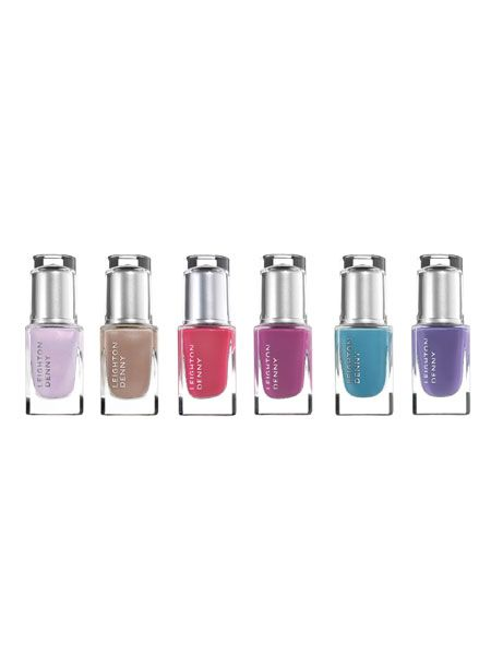 <p>The nail expert's collection is inspired by the 1940s with a nod to this season's biggest trends - pastels, neutrals and brights. We are a fan of the blue shade 'Notorious', plus we spotted Jade Jagger sporting it </p>  <p>Leighton Denny Expert Nails 'The Iconic Collection', £11 each</p>