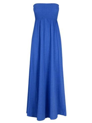 "<p>This electric blue maxi looks just like the one recently sported by Demi Moore on the red carpet; add that to the low price and you have a winning combo!  </p>  <p> £12, <a target=""_blank"" href=""http://www.peacocks.co.uk/product/index.jsp?productId=4063681&prodFindSrc=paramNav&awc=1828_1276594284_bc5bace90ec68e7eb5e2b35175675fe1"">www.peacocks.co.uk</a></p>"