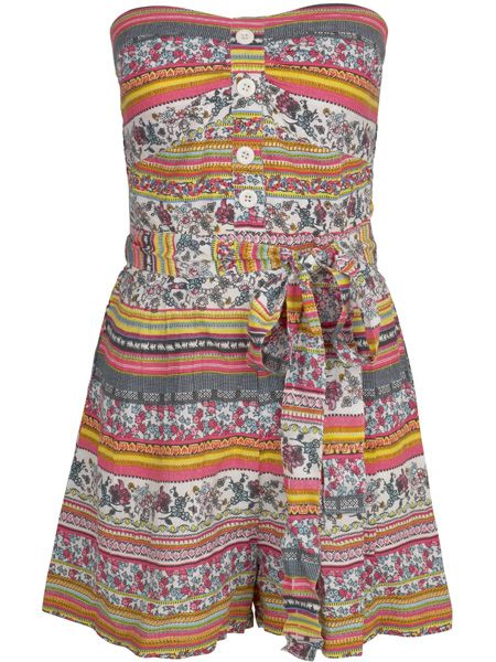 <p>This amazing tribal playsuit has just hit Peacocks. We predict a brawl! </p>  <p>£16, Peacocks </p>