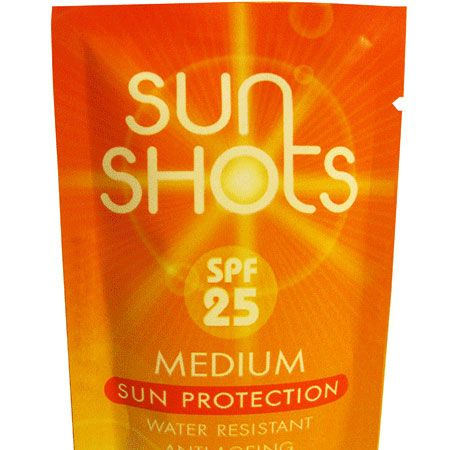 <p>These little sun cream sachets are genius. Keep them handy for when the heat is on. They provide SPF25 with 5 star UVA protection and are water resistant</p>