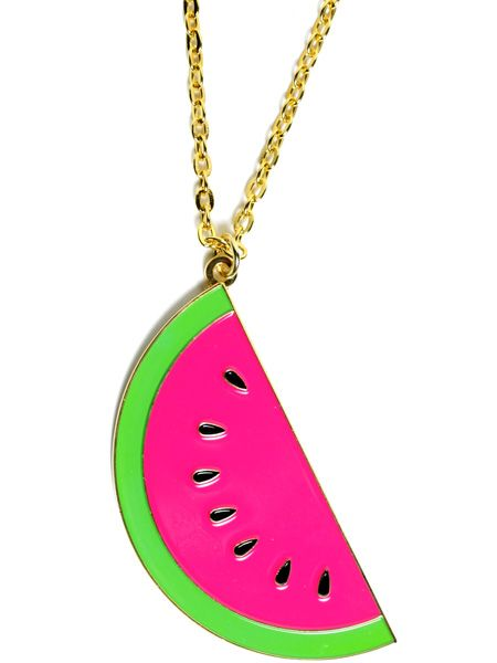"<p>This juicy necklace screams summer. It's new from Hannah Makes Things - get your teeth into it!</p>  <p>£16, <a target=""_blank"" href=""http://www.hannahmakesthings2.ashopcommerce.co.uk/p/1113958/huge-slice-of-water-melon-pendant.html"">www.hannahmakesthings.co.uk</a></p>"
