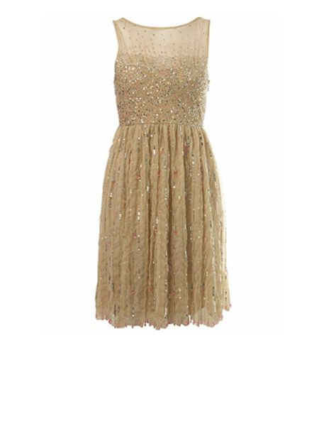 """<p>Dazzle (quite literally!) in this gorgeous sequin dress. Enough of the LBD already, here comes the LGD.</p>  <p> £85 <a href=""""http://www.missselfridge.com/"""">www.missselfridge.com</a></p>"""