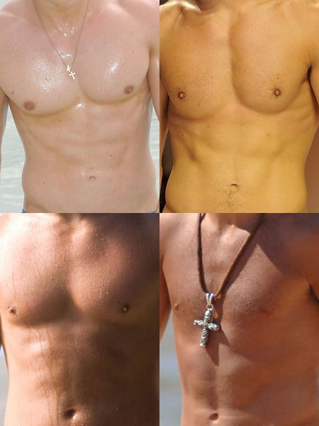 <p>Scrub a dub dub! Check out the washboard stomachs on this collection of sexy celebs... and not just that, test your knowledge of perfect pecs and guess who is the proud owner of each rippling torso...</p>