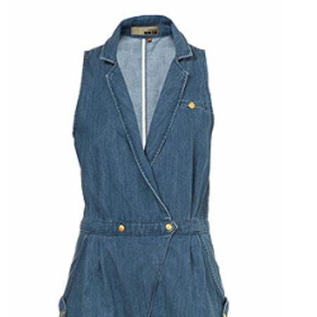 <p>Double denim is a big trend this season, and what better way to rock it than with this cute playsuit from Topshop. </p>