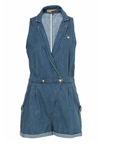 "<p>Double denim is a big trend this season, and what better way to rock it than with this cute playsuit from Topshop. </p>  <p>£50 <a href=""http://www.topshop.com/webapp/wcs/stores/servlet/ProductDisplay?beginIndex=0&viewAllFlag=true&catalogId=19551&storeId=12556&categoryId=146486&parent_category_rn=118926&productId=1827715&langId=-1"">www.topshop.com </a></p>"