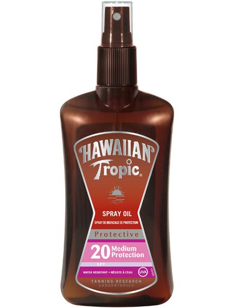 "<p>Love an oil but want sensible protection? Check out the world's first SPF20 oil. It smells divine and will keep you covered. Hurrah!</p>  <p>Hawaiian Tropic Protective Dry Oil Spray SPF20, £11.99, <a target=""_blank"" href=""http://www.boots.com/en/Hawaiian-Tropic-Protective-Dry-Oil-Spray-SPF-20-200ml_871367/"">www.boots.com</a></p>"