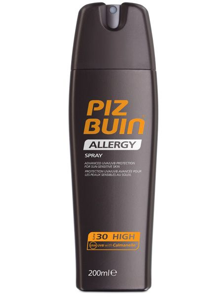 <p>Sun sensitivity is really common but luckily Piz Buin has a fab new Allergy range so you don't have to hide in the heat. This SPF30 spray is as good as ever</p>  <p>£15.99, available at Boots, Superdrug and supermarkets</p>