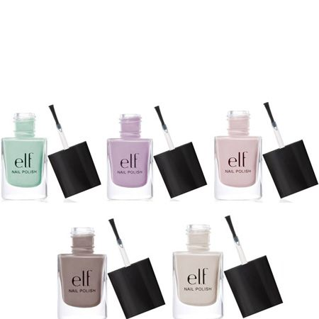 """<p>We're loving e.l.f.'s new summer nail polish collection. Not only do they have the hottest pastel shades (including nudes) but they're super easy to apply, dry really quickly and don't chip. What amazing value!</p><p>£1.50 at <a target=""""_blank"""" href=""""http://www.eyeslipsface.co.uk/product%7EprodID%7E62.htm"""">www.eyeslipsface.co.uk</a></p>"""