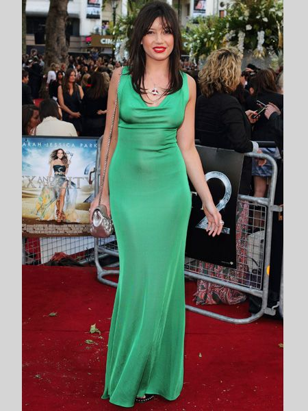 <p>Daisy knows how to pull off a trend. The green looks great with those red puckered lips and chocolate brown hair and the Vivienne Westwood necklace sets it off just right. Ten out of ten Daisy!</p>