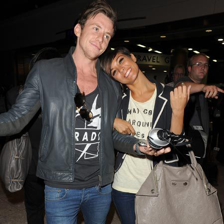 Frankie Sandford was spotted just behind them, snuggling up to McFly's Danny Jones. Panic over, they're all just very good friends...<br /><br />