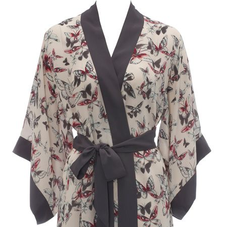 <p>This newly launched B by Ted Baker lingerie and sleepwear is divine. With eye-catching prints and as-you'd-expect attention to detail, this kimono dressing gown is too good to resist</p>