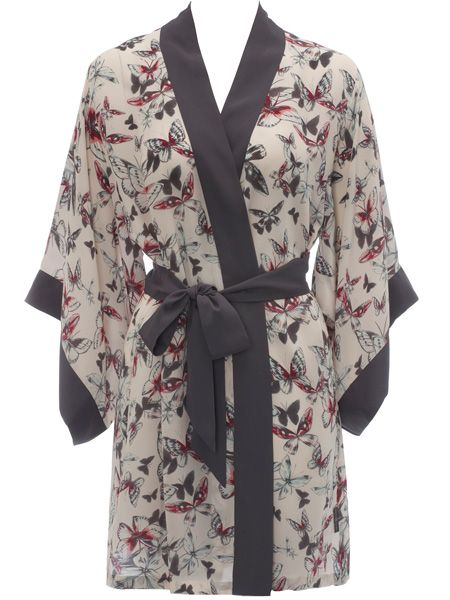 <p>This newly launched B by Ted Baker lingerie and sleepwear is divine. With eye-catching prints and as-you'd-expect attention to detail, this kimono dressing gown is too good to resist</p>  <p>£49.50, exclusive to Debenhams </p>