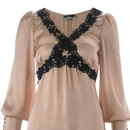 <p>This blush and black blouse is sure to be a sell-out. We'll fight you for it!</p>
