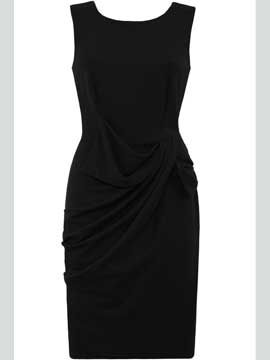 "<p>The LBD is back with a vengeance for autumn/winter and this dress from Goddiva ticks all the boxes.  Classic, on-trend and can be worn for work or play.  Plus, at £34 it's a real bargain!</p>  <p>Black dress, £34, <a target=""_blank"" href=""http://www.goddiva.co.uk/Home/party-dresses/Drape-Bow-Dress"">www.goddiva.co.uk </a></p>"