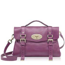 """<p>The Mulberry Alexa bag in plum.  One word: Perfection.</p><p>Bag, £695, <a target=""""_blank"""" href=""""http://www.mulberry.com/#/storefront/c5698/4858/category/"""">www.mulberry.com</a></p>"""