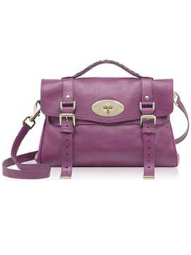 "<p>The Mulberry Alexa bag in plum.  One word: Perfection.</p>  <p>Bag, £695, <a target=""_blank"" href=""http://www.mulberry.com/#/storefront/c5698/4858/category/"">www.mulberry.com</a></p>"