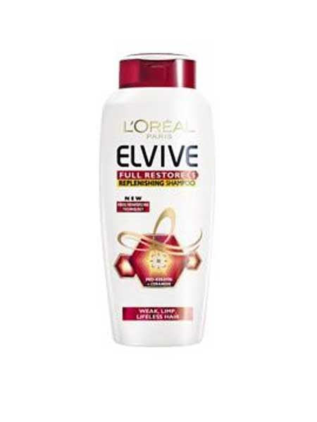 Cleanse and condition your hair without weighing it down. Use 2010's Cosmo Award Winner for Best Shampoo, L'Oréal Paris Elvive Full Restore 5 Shampoo and Conditioner, £2.39 each, for an indulgent lathering experience!