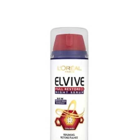 Before bed, run a small amount of L'Oréal Paris Elvive Full Restore 5 Replenishing Night Serum, £7.49, through your hair to help it intensely nourish as you sleep. It won't leave your hair feeling heavy, so you can rest assured and wake up to dreamy-feeling hair!