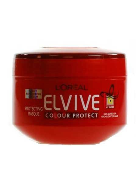 Hair feeling frazzled? Next up, use L'Oréal Paris Elvive Colour Protect Masque, £4.99, for intensely nourished locks, and to give hair a real conditioning boost