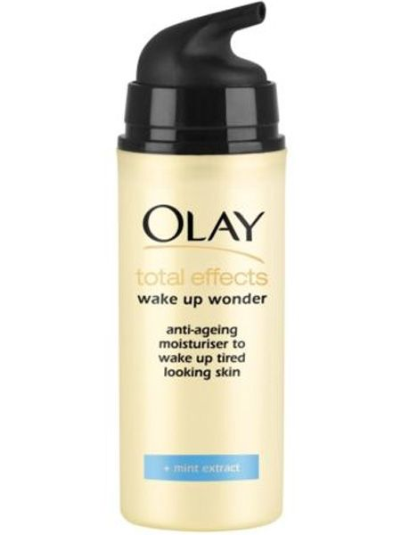 """<p>All these festivals and summer soirees have left us looking tres tired so we're faking eight hours sleep with the new Olay total effects Wake up Wonder moisturiser. It has the renowned 7-in-1 anti-ageing formula plus added mint extract to hydrate, awaken and energise your skin. Hurrah!</p>  <p>£7.99, <a target=""""_blank"""" href=""""http://www.boots.com/en/Olay-Total-Effects-Wake-Up-Wonder-30ml_1102618/"""">boots.com</a></p>"""