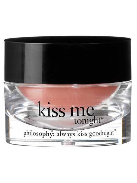 <p>We've just locked lips with Philosophy's new Kiss Me Tonight intense lip therapy and can't put it down. It's the ultimate luxe balm, ridding roughness and fixing fine lines. Pucker up girls!</p>  <p>£16.50, John Lewis and Selfridges</p>