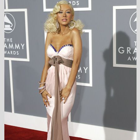 <p>At the 2007 Grammy Awards the singer oozed retro glamour in a timeless Emanuel Ungaro gown </p>