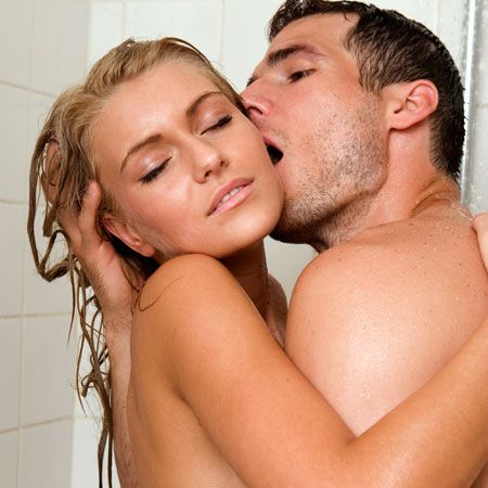 <p>Get steamy while you're getting ready for work. Hold him as you wrap your left leg around his waist. Have him place his right hand under your thigh to keep you steady as he enters you. Meanwhile, his other hand is free to lather you up.</p>