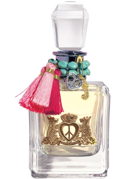 <p>Ooh we're loving the new Juicy juice, Peace Love & Juicy Couture which has just launched in Selfridges. The ridiculously cool bottle houses a seductive concoction of floral accents making the perfume smell as gorgeous as it looks</p>   <p>£34 for 30ml, Selfridges</p>